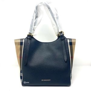 Burberry house check durby canterbury leather bag